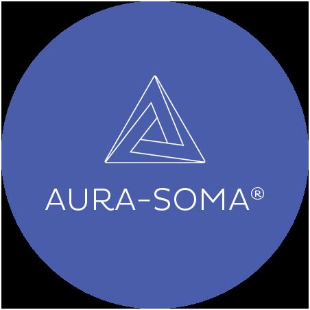 Aura-Soma Logo: ein verwinkelter Triangel